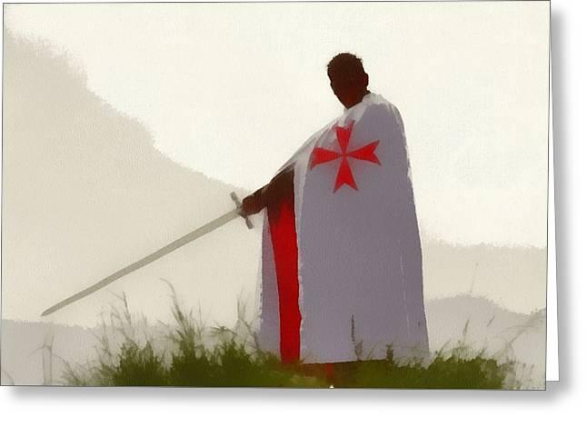 Knights Templar 4 Greeting Card
