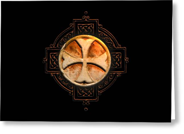 Knights Templar Symbol Re-imagined By Pierre Blanchard Greeting Card by Pierre Blanchard