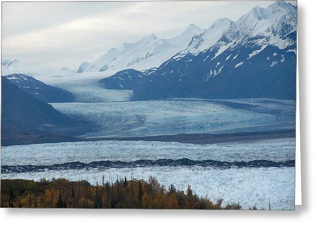 Knik Glacier Greeting Card by Adam Owen