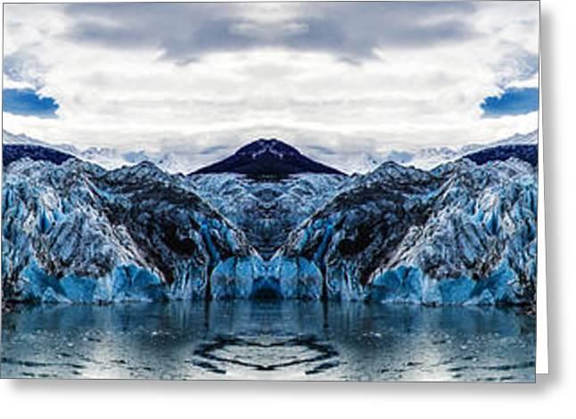 Knik Glacier Reflection Greeting Card