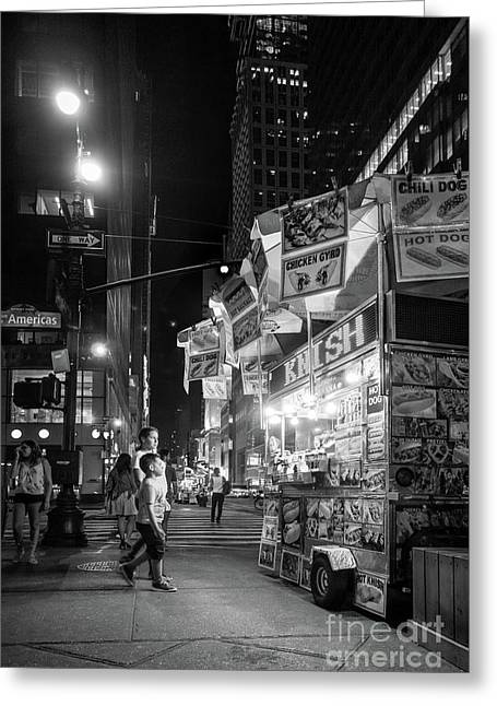 Knish, New York City  -17831-17832-bw Greeting Card