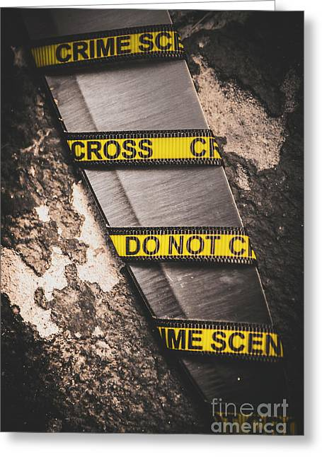 Knives And Clues Greeting Card by Jorgo Photography - Wall Art Gallery