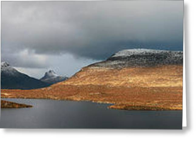 Greeting Card featuring the photograph Knockan Crag Mountain View by Grant Glendinning