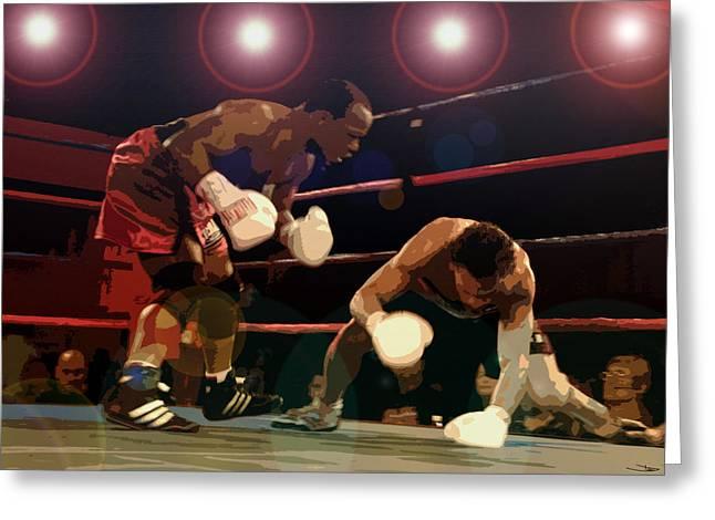 Knockdown Greeting Card by David Lee Thompson