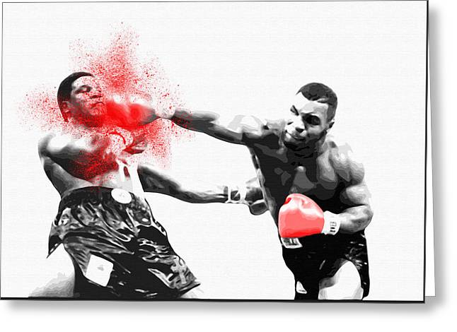 Knockout King Mike Tyson - By Diana Van Greeting Card by Diana Van
