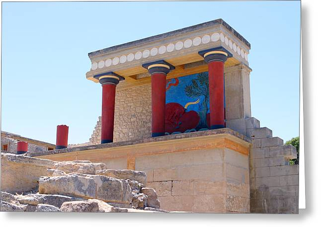 Knossos North Gate View Greeting Card by Paul Cowan
