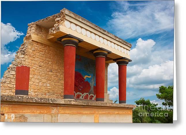 Knossos Palace At Crete, Greece Greeting Card