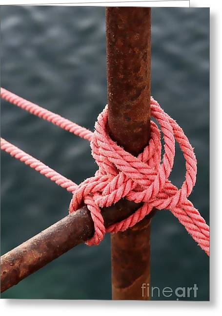 Greeting Card featuring the photograph Knot On My Warf IIi by Stephen Mitchell
