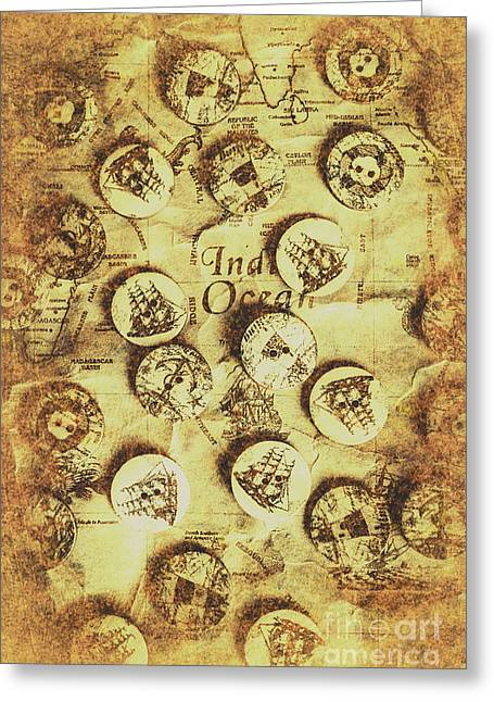 Knots And Buttons Greeting Card