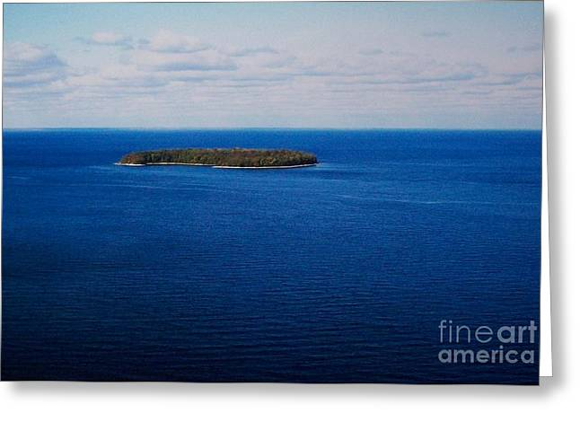 Know Man Is An Island Greeting Card by Marsha Heiken