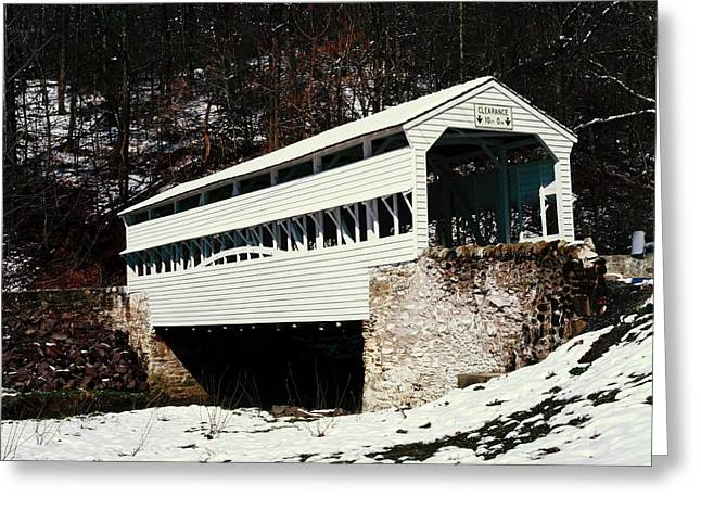 Knox Covered Bridge Historical Place Greeting Card by Sally Weigand