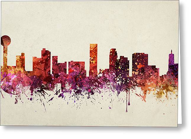 Knoxville Cityscape 09 Greeting Card