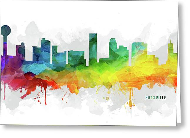 Knoxville Skyline Mmr-ustnkx05 Greeting Card