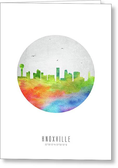 Knoxville Skyline Ustnkx20 Greeting Card