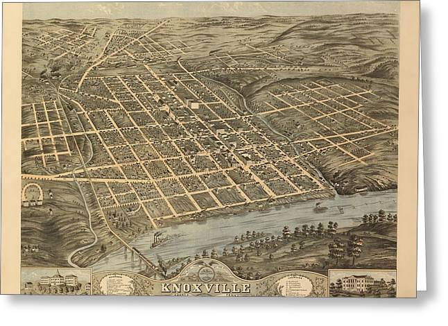 Knoxville Tennessee 1871 Greeting Card