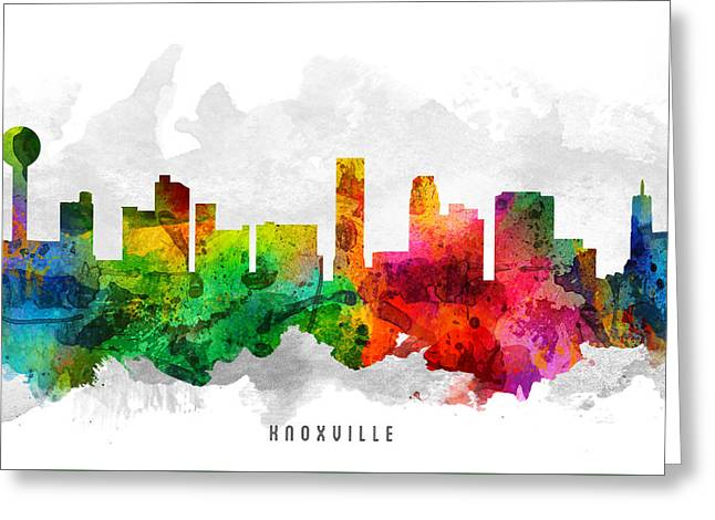 Knoxville Tennessee Cityscape 12 Greeting Card
