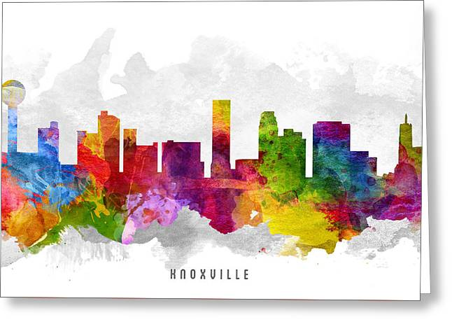 Knoxville Tennessee Cityscape 13 Greeting Card