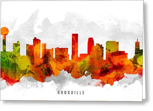 Knoxville Tennessee Cityscape 15 Greeting Card