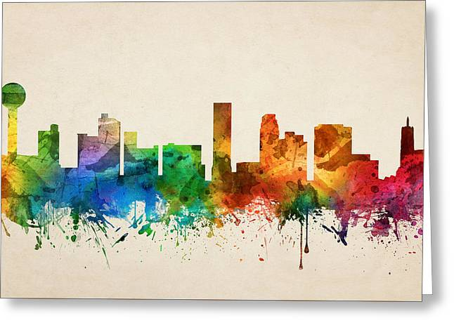 Knoxville Tennessee Skyline 05 Greeting Card