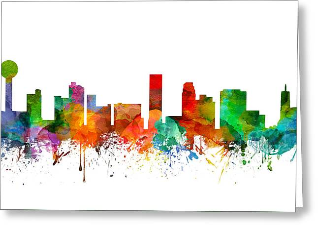 Knoxville Tennessee Skyline 21 Greeting Card