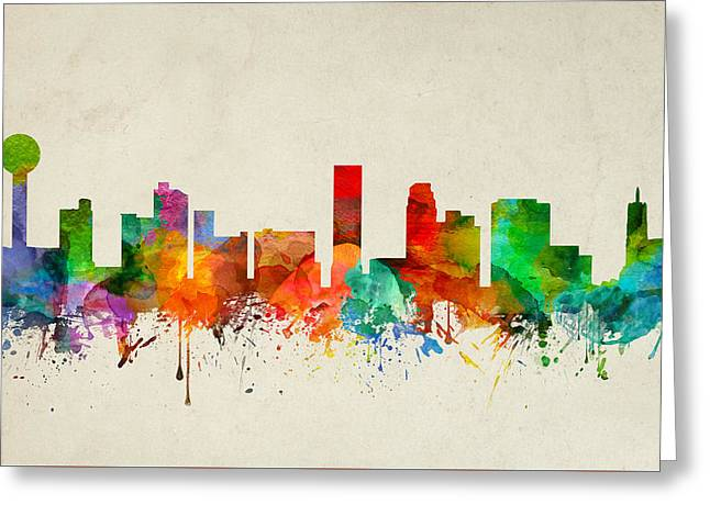 Knoxville Tennessee Skyline 22 Greeting Card