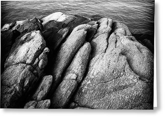 Ko Samet Rocks In Black Greeting Card