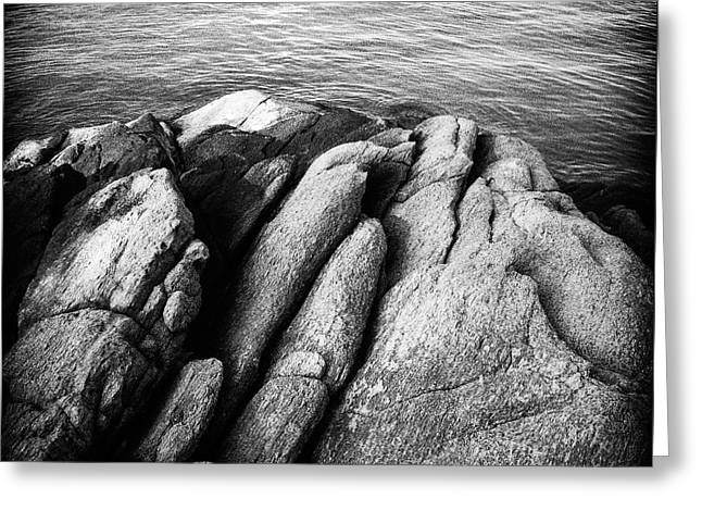 Greeting Card featuring the photograph Ko Samet Rocks In Black by Joseph Westrupp