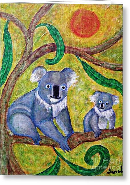 Koala Sunrise Greeting Card