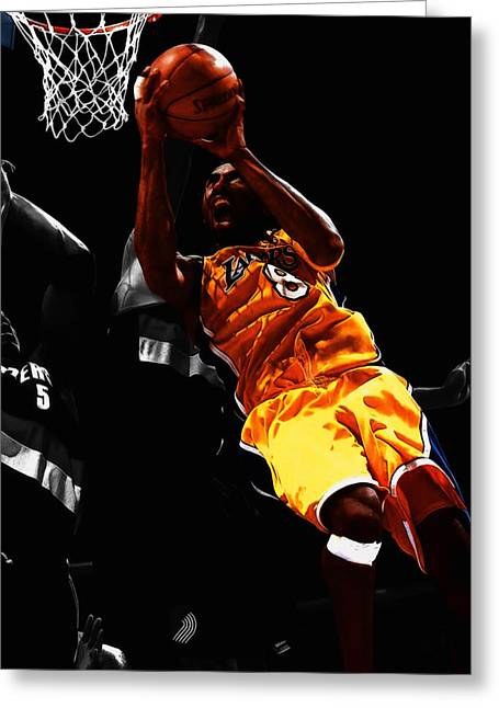 Kobe Bryant 8a Greeting Card by Brian Reaves