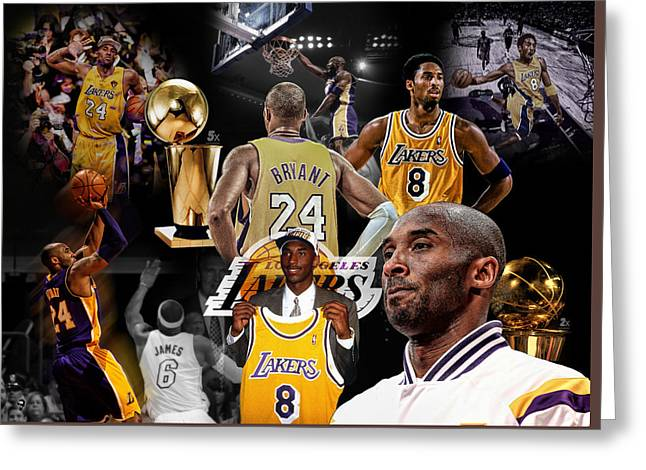 Kobe Bryant Career Greeting Card by Nicholas Legault
