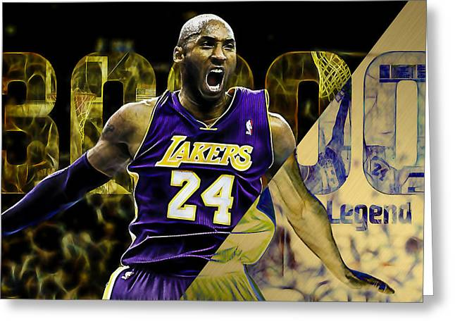 Kobe Bryant Collection Greeting Card