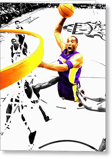 Kobe Bryant Flight Mode Greeting Card by Brian Reaves