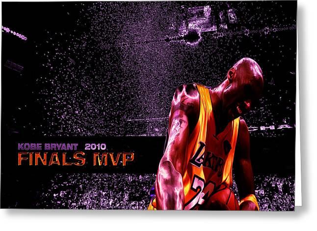 Kobe Bryant Nba Finals Greeting Card by Brian Reaves