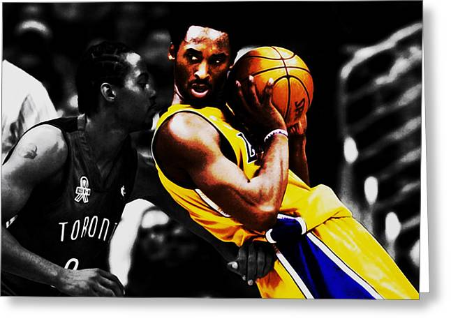 Kobe Bryant School Time Greeting Card by Brian Reaves