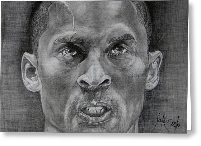 Kobe Bryant Greeting Card by Stephen Sookoo