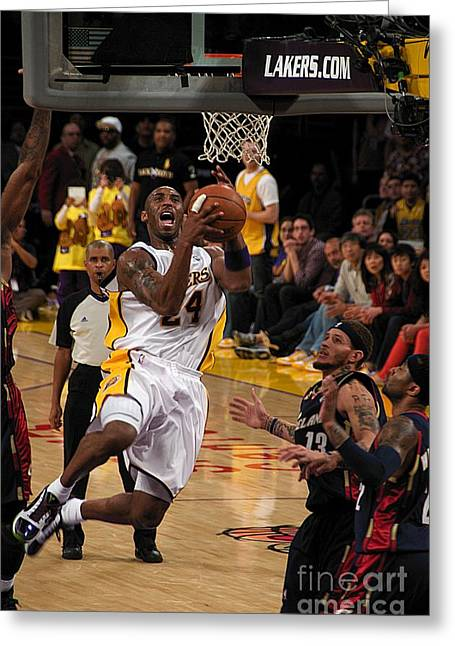 Kobe Greeting Card by Marc Bittan