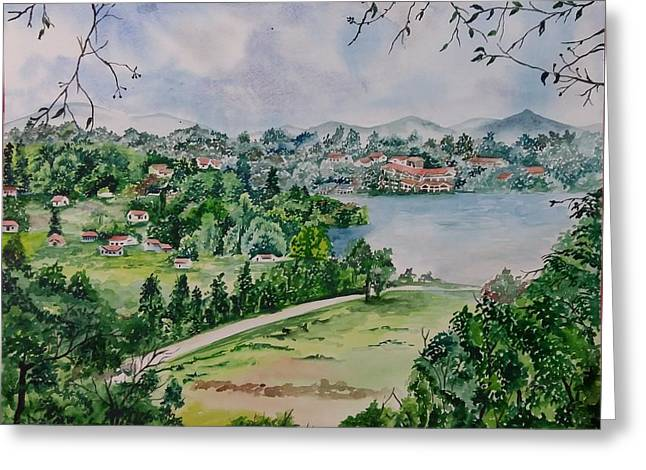 Kodai Lake View Greeting Card