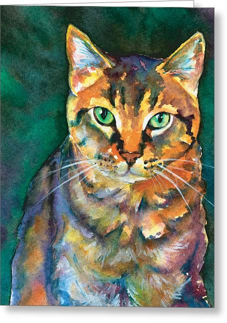 Greeting Card featuring the painting Kodi by Christy Freeman