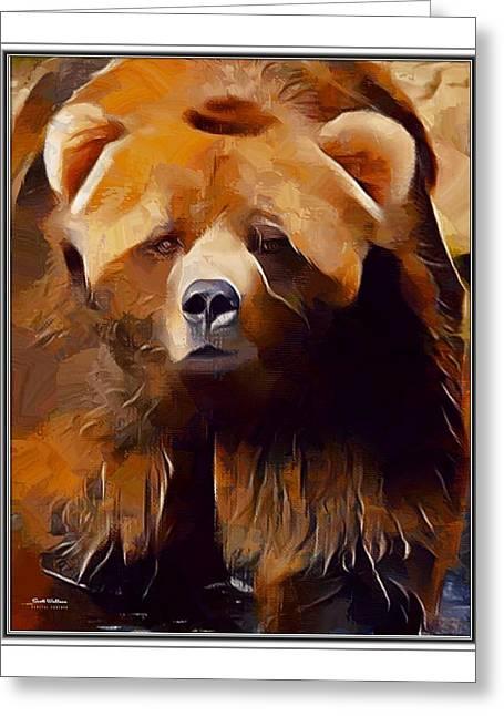 Kodiak Bear Bordered  Greeting Card
