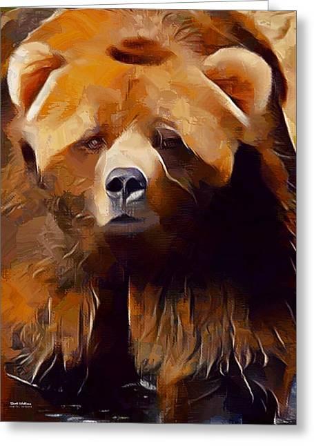 Kodiak Bear Painting  Greeting Card