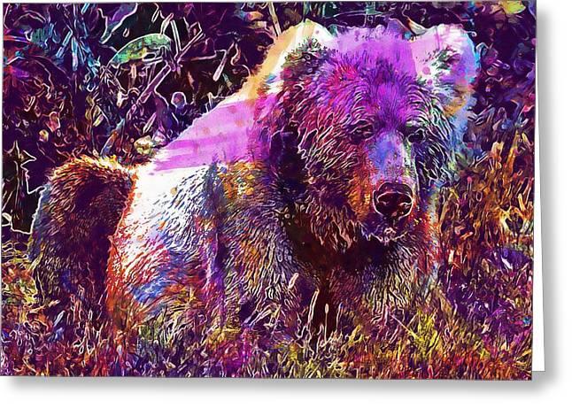 Kodiak Brown Bear Mammal Predator  Greeting Card