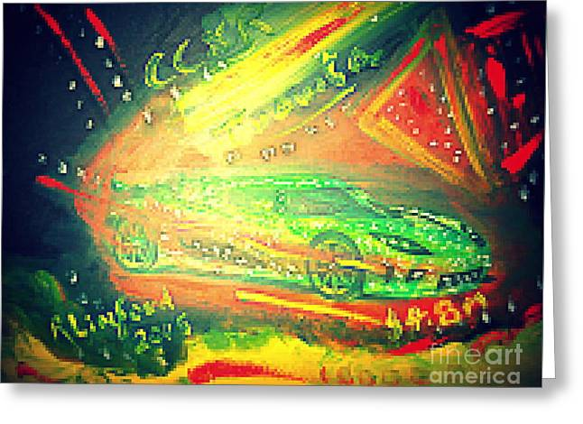 Greeting Card featuring the painting Koenigsegg Ccxr Trevita Four Point Eight Million Dollars by Richard W Linford