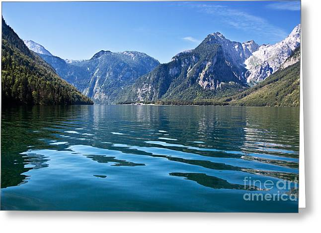 Koenigssee Greeting Card by Nailia Schwarz