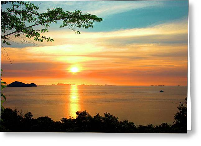 Koh Phangan Greeting Card by Mark Ashkenazi