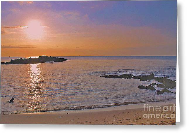 Kohala Sunset Greeting Card