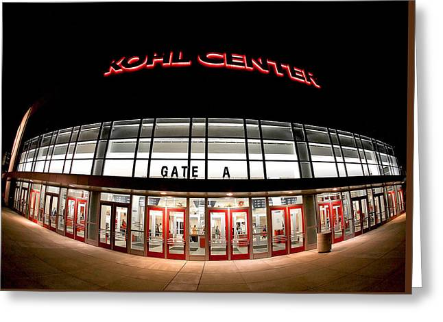 Kohl Center Curves Greeting Card by Todd Klassy