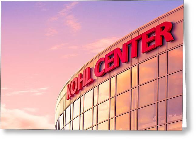 Kohl Center Illuminated Greeting Card by Todd Klassy