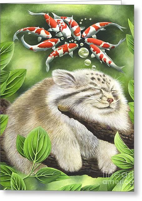 Koi Dreaming Greeting Card