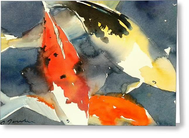 Koi Fish No.6 16x20 Greeting Card by Sumiyo Toribe