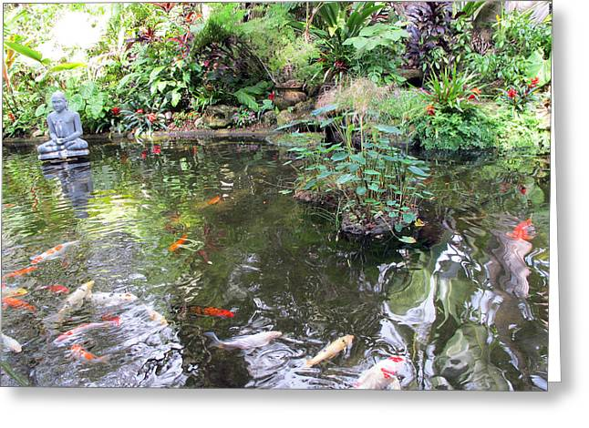 Koi Garden Greeting Card